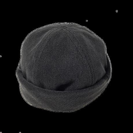 Denim Roll Cap①/サイズM/ブラック