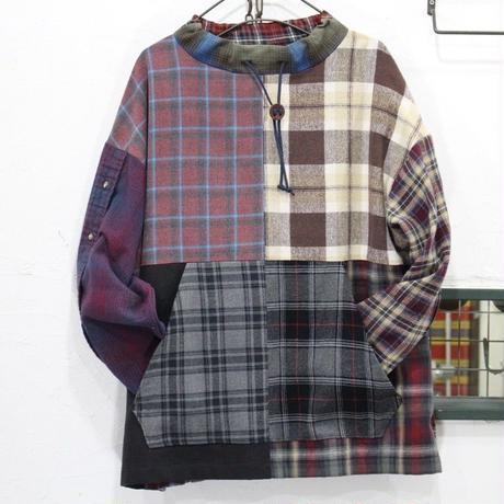 Flannel Mock neck pullover⑤