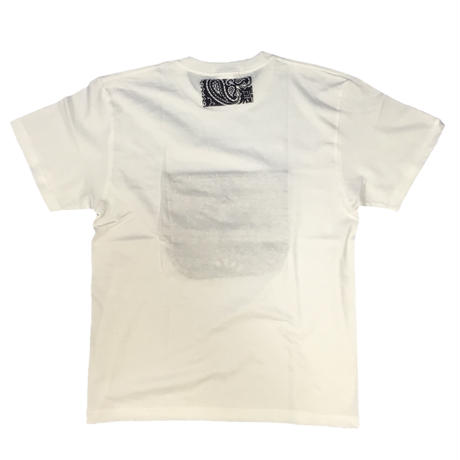 Pocketable T-sh Bandana White/NavyーM/L/XLサイズ