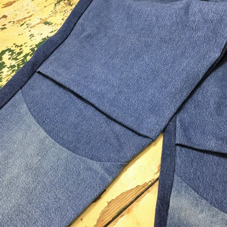 Tuck Denim Pants①/フリーサイズ