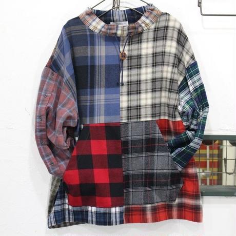 Flannel Mock neck pullover④
