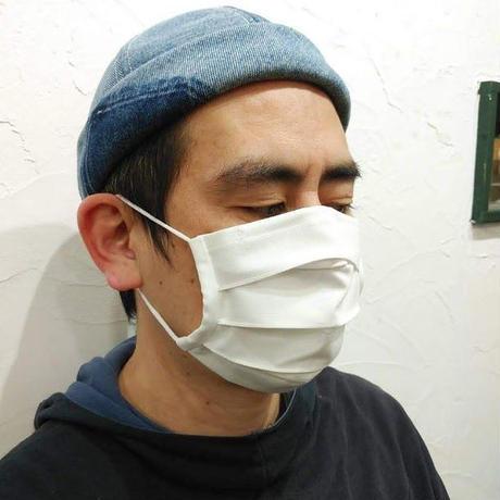 リップストッププリーツマスク 【ホワイト】