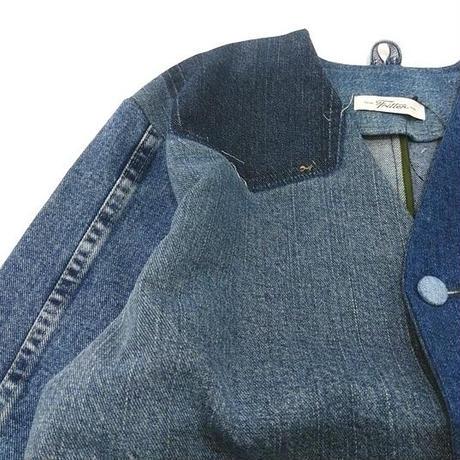 Denim No collar Jacket /Womans③