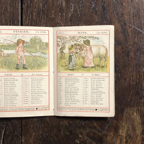 「ALMANACH 1884(French edition)」Kate Greenaway(ケイト・グリーナウェイ)
