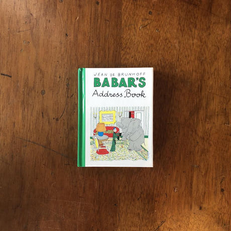 「BABAR'S Address Book」Jean de Brunhoff(ジャン・ド・ブリュノフ)