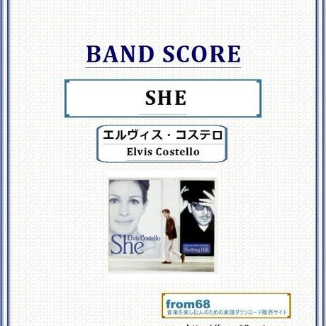 エルヴィス・コステロ(Elvis Costello)  / SHE バンド・スコア(TAB譜) 楽譜