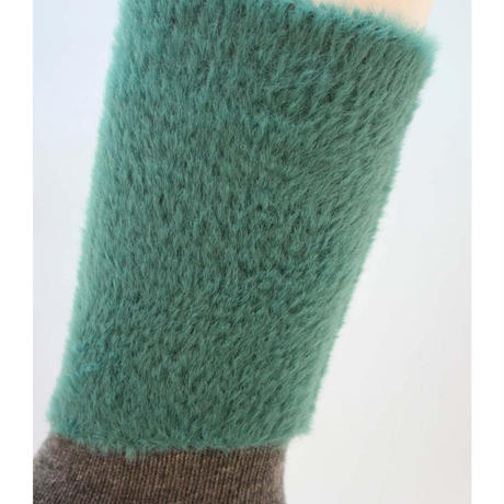 NEWUP | FUZZY KITTEN | Teal x Gray