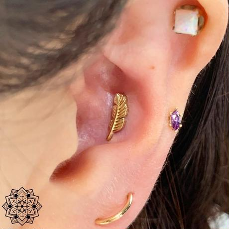 Feather(L)10mm-18K