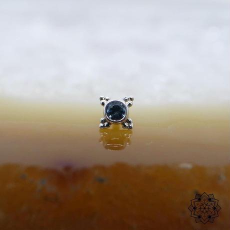 Mini Kandy(5mm)-18K(WG)/London Blue Topaz(AA)