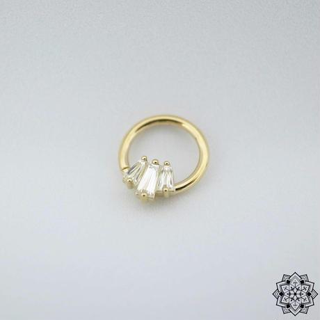Oceane 3 Ring-18K(YG) /CZ