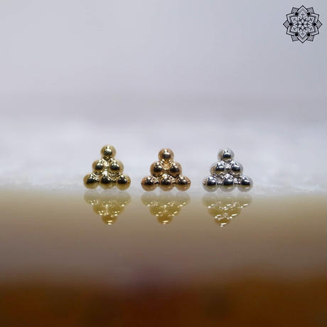 6 Beads Triangle-18K