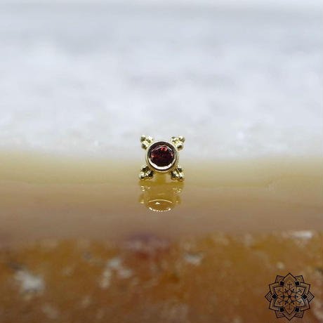 Mini Kandy(5mm)-18K(YG)/GARNET(AA)