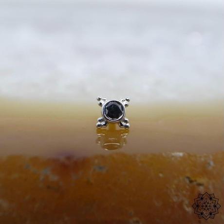 Mini Kandy(5mm)-18K(WG)/BLACK DIAMOND