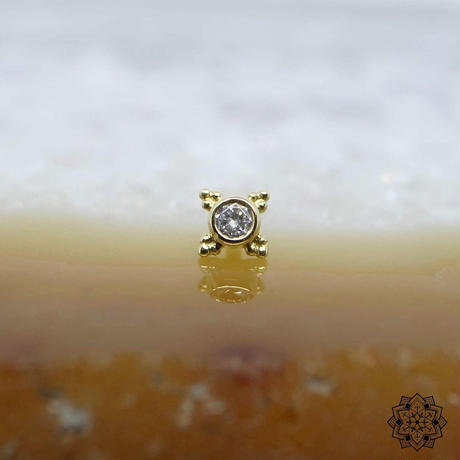 Mini Kandy(5mm)-18K(YG)/DIAMOND(VS)