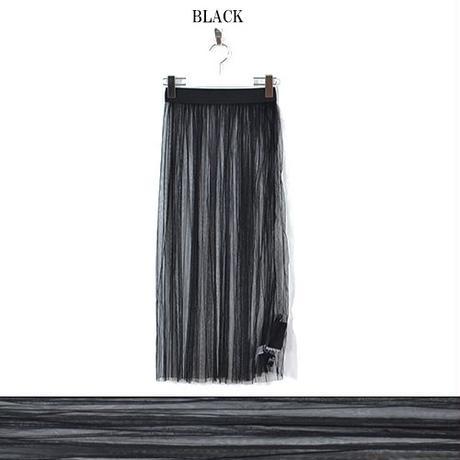 【LuxuryRose】シースルーチュール ロングスカート ダンス コスチューム 衣装