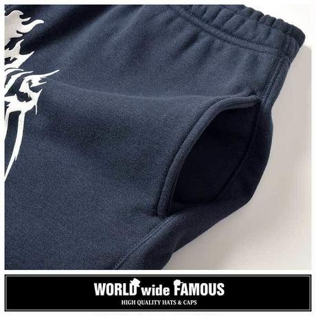 【World wide Famous】2018年春夏 FAMOUS フロントロゴ スウェットショーツ