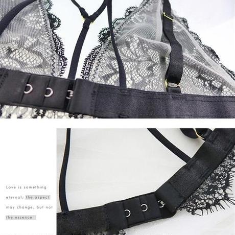 【LuxuryRose】【即日出荷】ガーターベルト付き ブラとショーツ セクシーランジェリー
