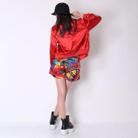 【LuxuryRose】エキゾチックSEXY!!ポップアート風ショートパンツ