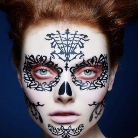 【Face Lace】メイクアップ ステッカーDay of the dead espina