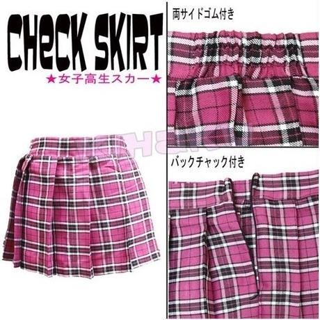 【LuxuryRose】チェックミニスカート
