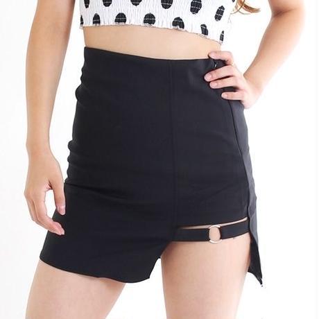 【LuxuryRose】足魅せ♪ガーターリングみたいなデザインがセクシー!タイトミニスカート