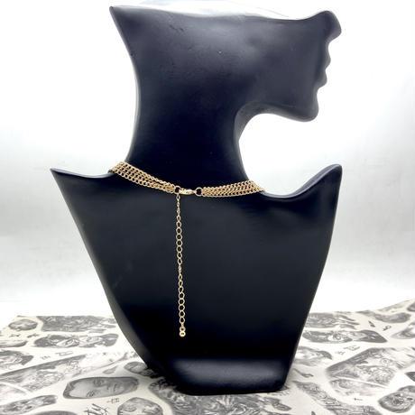 【LuxuryRose】トリプル クロス ゴールド ネックレス