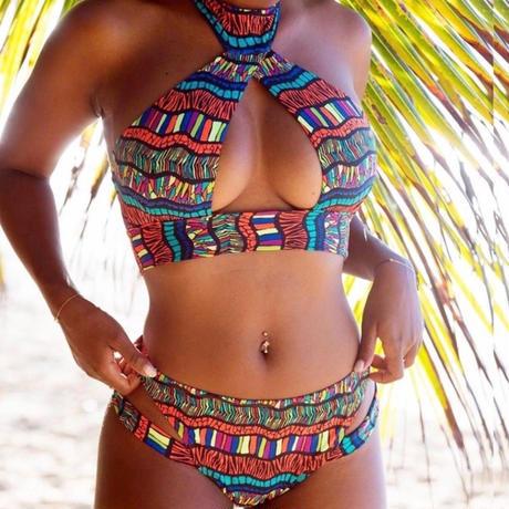 【LuxuryRose】アフリカン柄ビキニ