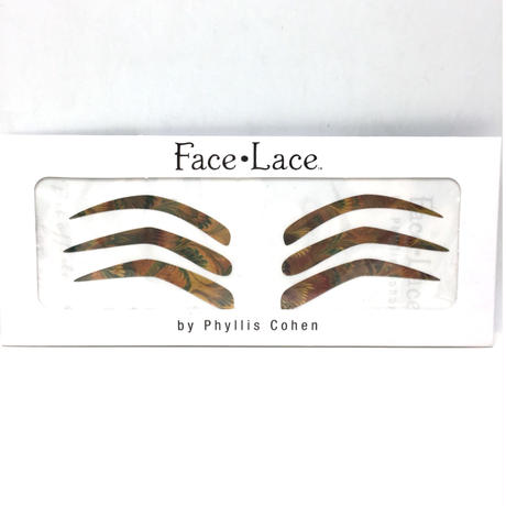 【Face Lace】 ゴールド メタリック ブロー メイクシール Golden peacock brows
