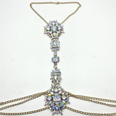 【Luxury Rose】キラキラ スノーフレイク ボディーチェーン