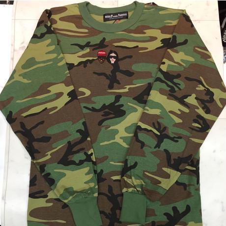【World wide Famous】KIMYE カモフラ ロングスリーブ Tシャツ