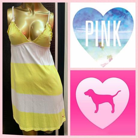 【Victoria'sSecret PINK】ボーダー キャミワンピース