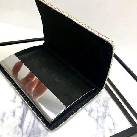 【LuxuryRose】キラキラ ピンク ラインストーン  カードケース