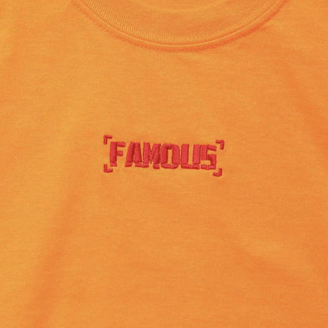"""【World wide Famous】""""FAMOUS"""" FIRE  ロングスリーブ Tシャツ"""