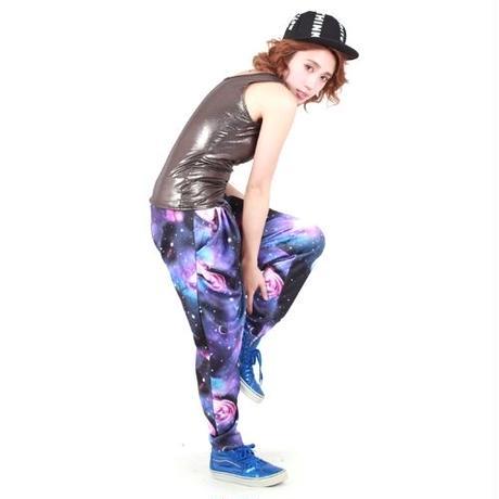 【LuxuryRose】存在感NO.1 !! メタリックタンクトップ 光沢 ダンス 衣装