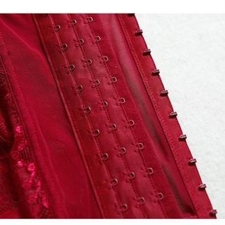 【LuxuryRose】首リード ガーターベルト付きビスチェとショーツ セクシーランジェリー