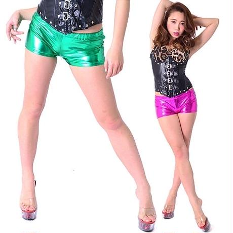 10/6 ダンス衣装【LuxuryRose】メタリックショートパンツ 衣装ショートパンツ ポールダンス