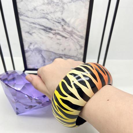 【LuxuryRose】🐯 虎柄 グラデーション バングル