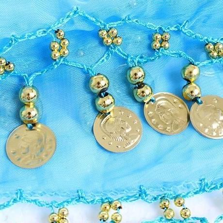 【LuxuryRose】揺れるゴールドコイン付き♪ヒップスカーフ