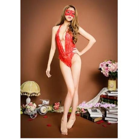 【LuxuryRose】全3色‼️ レースアイマスク付き  花柄レーステディ