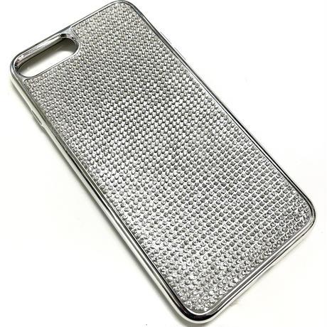 【LuxuryRose】 キラキラ ラインストーン iPhone8Plus ケース