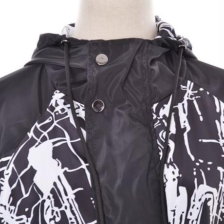 【LuxuryRose】ユニセックスで着用可能!飛ばしペイント柄 フーディジャケット