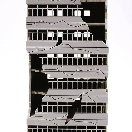 PREZZA BACKGROUND DESTROYED LINE [PBGD 01] 壊れたビル1
