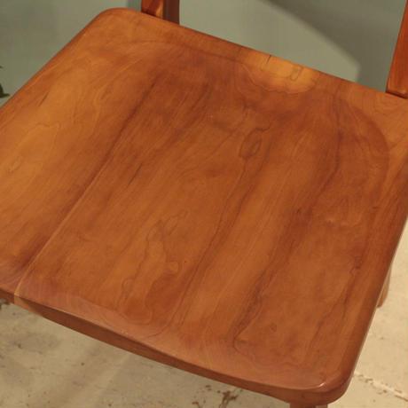 現品限り!Lv-chps-bc ペスカチェア  ブラックチェリー材 板座