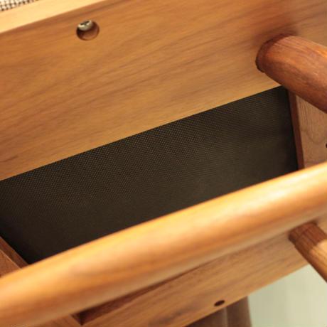 Lv-ched-wn エディ ダイニングチェア(板座/張座) ウォールナット材