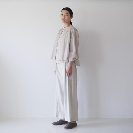 <fruits of life> サイドボタンパンツ( スーピマコットン) / 卯の花色