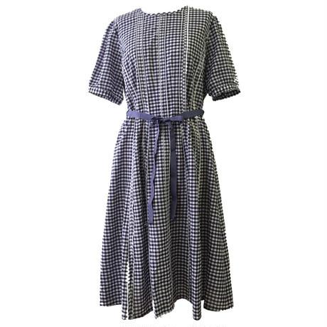 Half sleeve Dress チェックワンピース