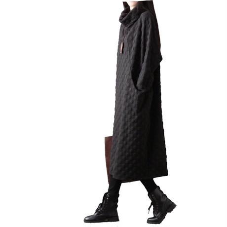 Dot Offturtle Jersey Dress ドットオフタートルワンピース