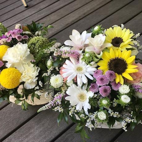 和洋ミックスお供え花