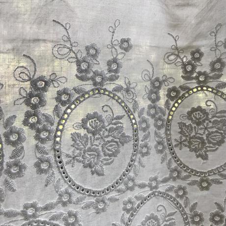 ローズ刺繍コットンカフェカーテンU3