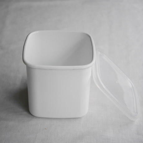 野田琺瑯 White Series スクエアⅬ シール蓋つき